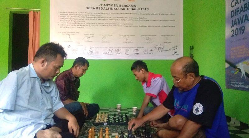 Final Turnamen Catur Difabel Jawa Timur 2019 di Malang