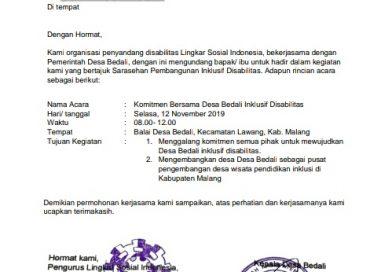 Pers Rilis: Komitmen Bersama Desa Bedali Inklusif Disabilitas